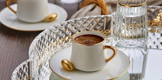 Кофе на стеклянном подносу