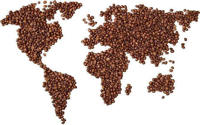 Потребление кофе с мире