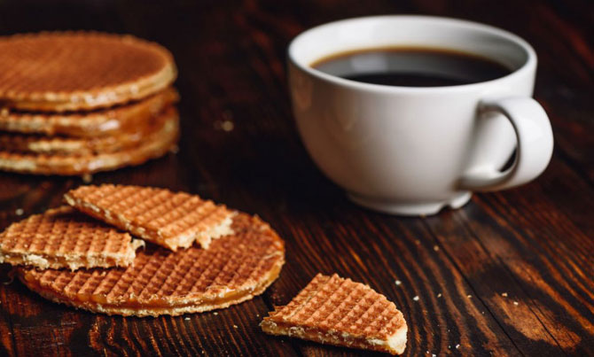 Кофе с вафлями