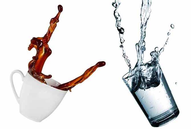 После употребления, выпить воды