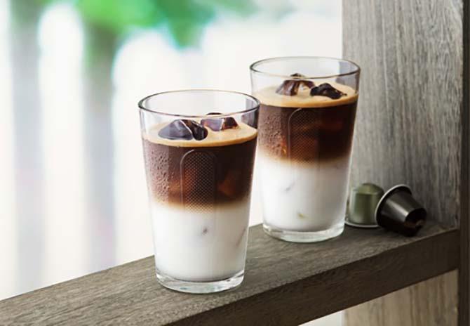 Кубики замороженного кофе