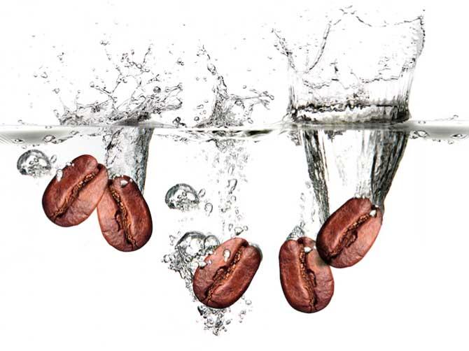 Зерна в воде